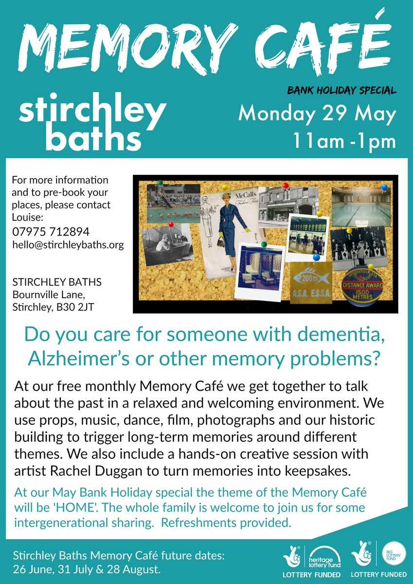 Memory cafe on Monday 29th May